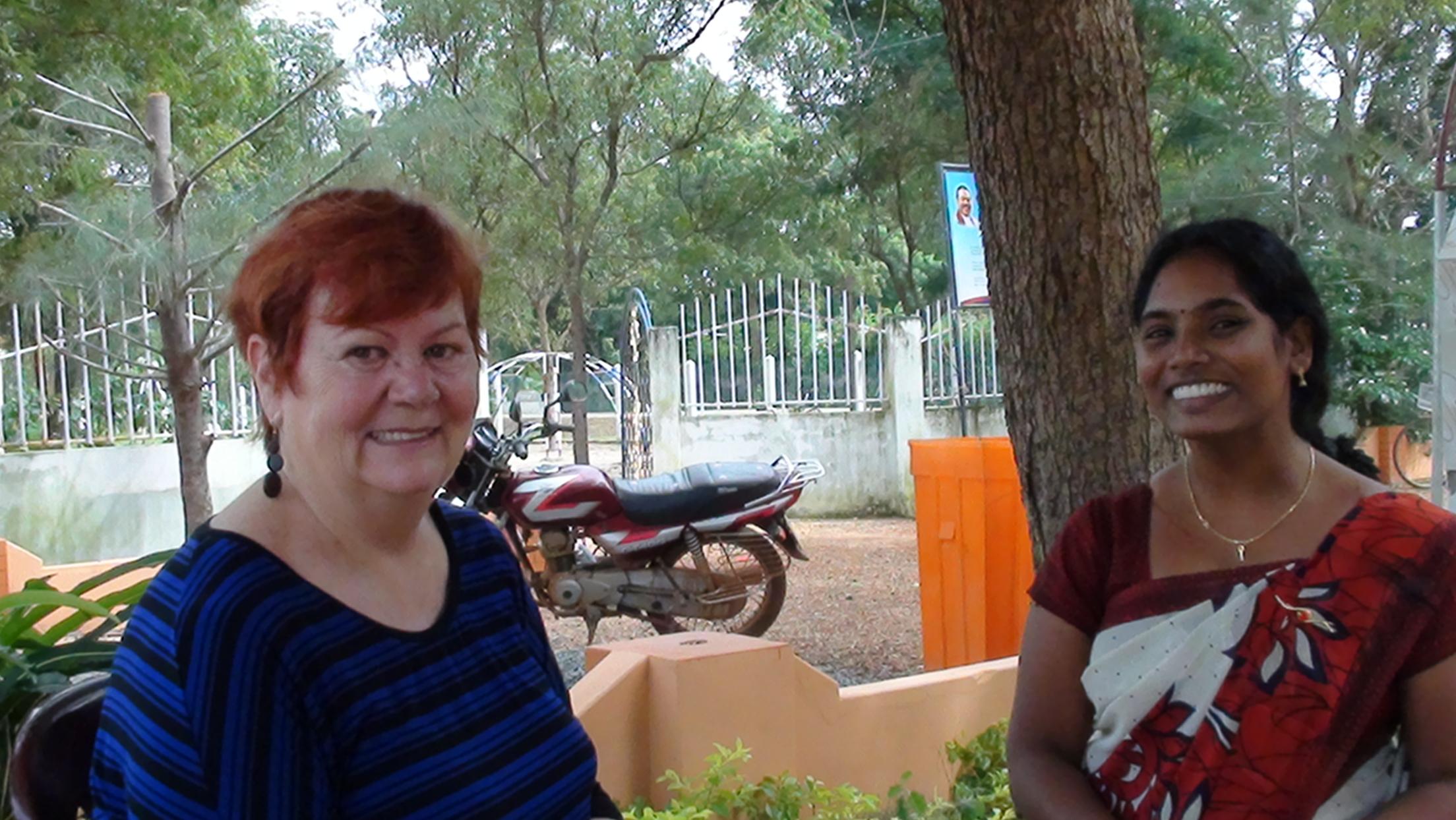 PIMD Consultant discussed school progress with local English teacher