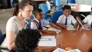 Teaching children in Sri Lanka